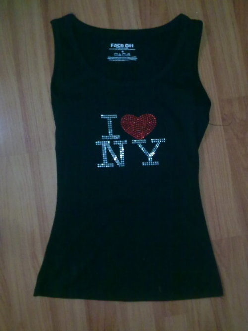 I LOVE NEWYORK SINGLETSize: 8Condition: Excellent, as newSelling for: $20 > $15 SOLD