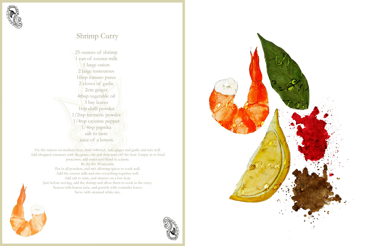 Some of the layouts for the Indian cookery book I designed