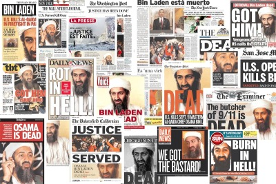 Front pages of today's newspapers.  Evidently there's a popular file photo.