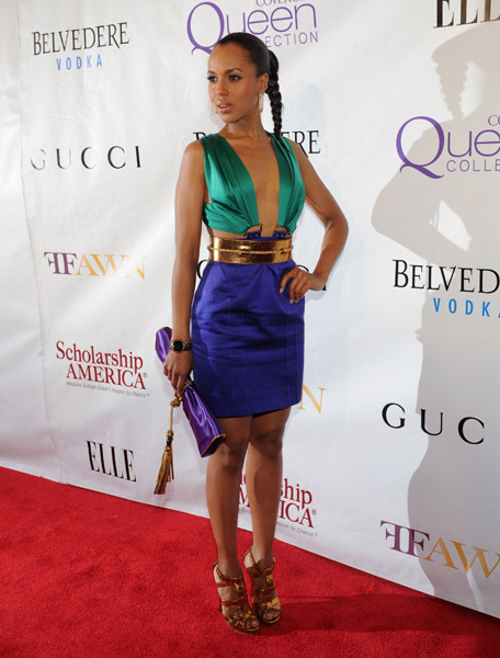 Kerry Washington reppin' a dress from Gucci SS11 RTW. That's what I call color-blocking.