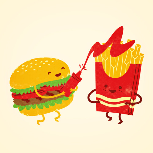 Mmm… burger and fries…you can vote for this design over at threadless.com!