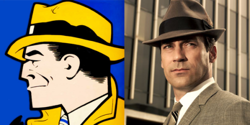 solomonscane:  Jon Hamm as Dick Tracy. Make it happen people.  Ok, not a design related post (unless you count the tangential Mad Men reference) but this would be great. What do you say we reblog until it comes true?
