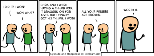 I really like Cyanide & Happiness' take on today's issue.
