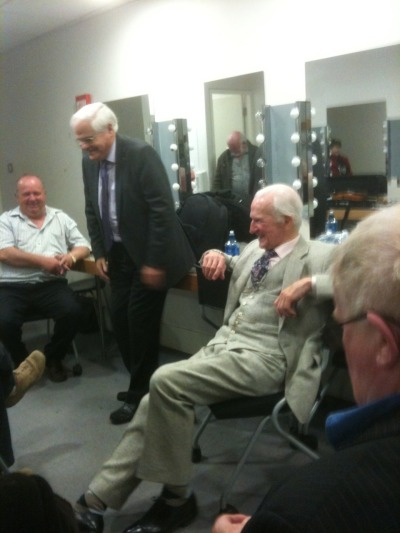 Donalín John Ó Suilleabhain, Sean Ó Sé agus Eamon de Buitlear. Dressing room before #RiadaConcert in Liberty Hall Dublin. April 23rd 2010