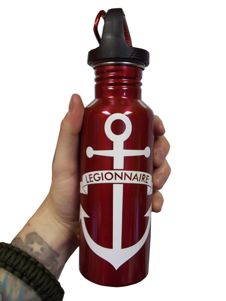 "We got a few water bottles back in stock. Really awesome looking in person, kind of blood red. Stay hydrated in the summer heat, cause it's coming up quick. Only $10, and you can use the code ""PrettyPlease"" to get 15% off! How rad is that?!"