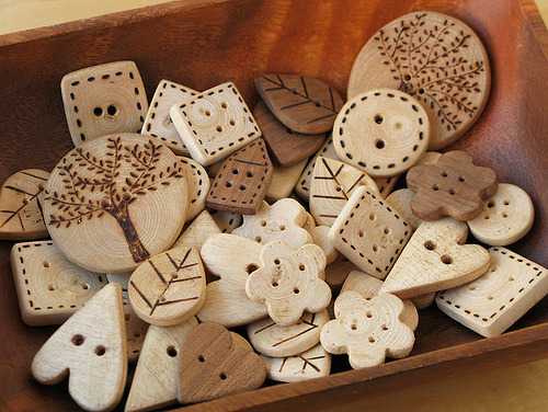 Wood Buttons (by PatchworkPottery)