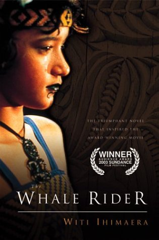 "Whale Rider This movie is centered around a Maori tribe in New Zeland. Supposedly their first cheif came from Hawaiki on a whale's back. The tribe's leader is the first born male in a particular family. The first born son of Koro Apirana, the leader of the tribe, wife dies during labor with her twins. The boy twin dies leaving a girl, Pai, who seen as ""worthless"" by Koro. Despite Koro's disappointment he takes her in while the dad goes to Germany to deal with his grief. Koro creates a cultural school for the village boys in hopes of finding a new leader. He teaches them how to use a taiaha (fighting stick). Pai is not allowed to attend the school, because she is a girl. So she goes to her uncle to learn how to use a taiaha. Then Koro takes the boys out on a boat to recover the rei puta (the whale tooth- on a necklace) that he threw into the ocean. None of the boys find it. Pai find it a few days later. There is a Maori concert for her school and her grandpa was suppose to come and he didnt because a lot of whales were beached. The whole village tries to coax them back into the water, but only Pai can. She gets on its back and rides it back into the ocean in to the depths of the water and she is later found and taken to the hospital. Koro comes to terms with Pai being the new leader.   This is a great movie showing that men arent always the ones choosen to be leaders. Also, when you believe in something you must fight for it. To say the least I was inspired by a 12 year old girl who knew what her destiny was."