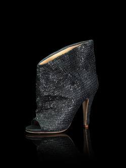 Maison Margiela leather sequin sandal bootie