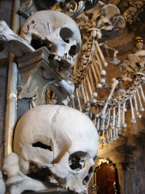 Sedlec Ossuary, Czech Republic. (Source: Diether on Wikimedia Commons.)