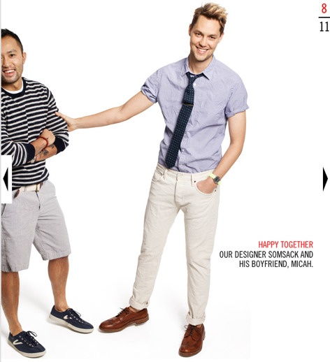 Love this. Go J Crew. What an adorable, well dressed and happy gay couple.