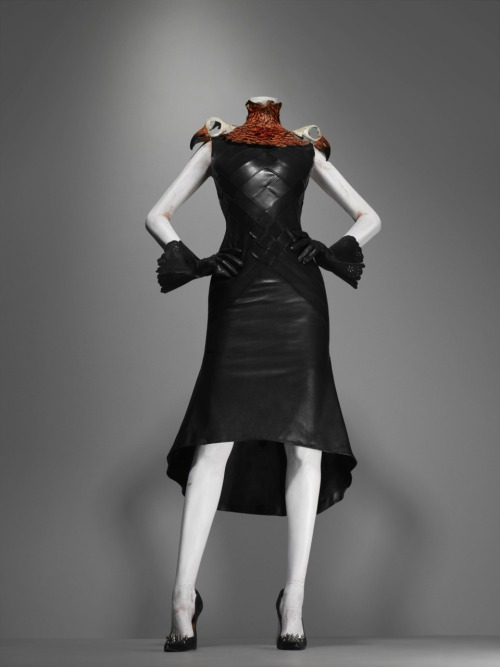 "omgthatdress:  Alexander McQueen for House of Givenchy ""Elect Dissect"" dress ca. 1997"