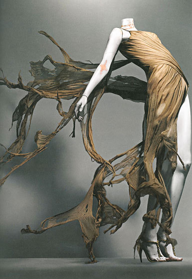 "omgthatdress:  Alexander McQueen ""Irere"" dress ca. 2003"