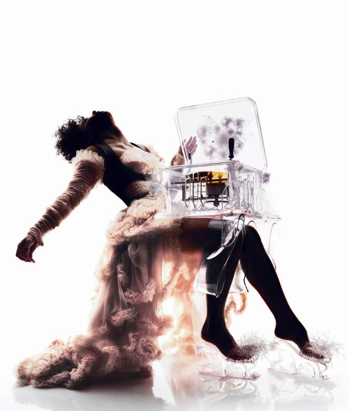 amafreebitchbaby:  Björk in a Mcqueen dress by Nick Knight