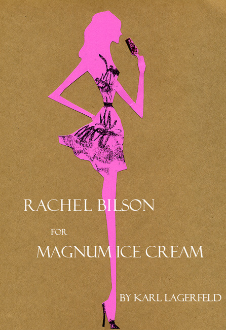 """Karl Lagerfeld + Rachel Bilson for Magnum Ice Cream"" Sweeeet film! I want to eat ice cream… http://www.youtube.com/watch?v=3g5StrgLVos"