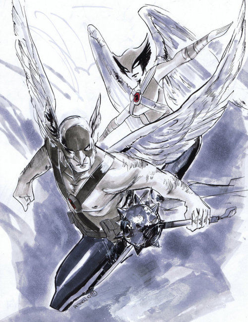 comicbabe:  Two hawks of a feather ~by ink4884
