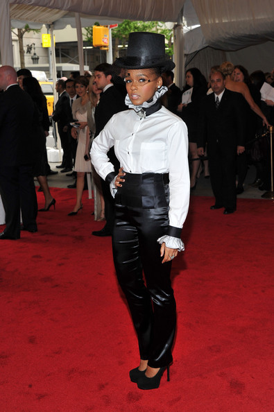 "Singer Janelle Monae attends the ""Alexander McQueen: Savage Beauty"" Costume Institute Gala at The Metropolitan Museum of Art . See more of my favs at http://stylephiles.tumblr.com/"