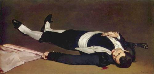 Dead Matador, Edouard Manet, 1864-65 I was in love with him and would visit him every time I went to the National