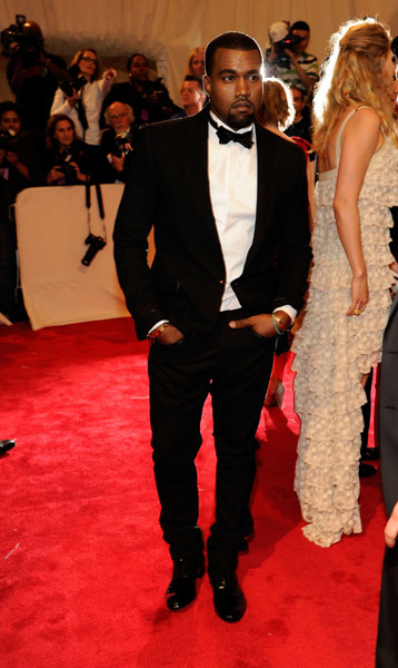 Kanye looking fierce…
