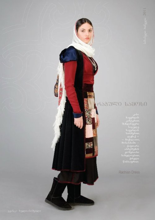 """Samoseli Pirveli"" - Georgian National Costume. Rachian Dress -  Collection 2011."
