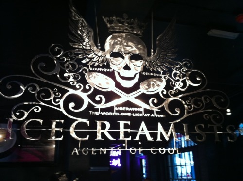 On Sunday I visited Icecreamists, an ice cream boutique which has a gothic, rock and roll feel. Oli and I have discussed how something like this could be suitable to the changing room area. The idea is to cover the entire back area and changing rooms with Drop Dead photographic imagery which will be torn away to reveal characters. This will give a trashy rock and roll changing rooms vibe but also act a 'History of Drop Dead'.