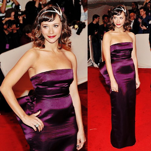 "Rashida Jones attends the ""Alexander McQueen: Savage  Beauty"" Costume Institute Gala at The Metropolitan Museum of Art on May  2, 2011."