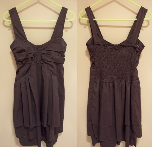 FACE OFF DRESS/TOPSize: 8Colour: Greyish BlackCondition: Brand new, never wornSelling for: $20 > $15 SOLD