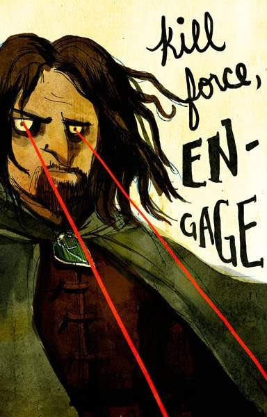 Don't fuck with Aragorn. art by Irma Kniivila :: via kniivila.blogspot.com