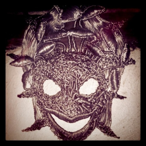 Mask made of wire. Kewl!! (Taken with instagram)