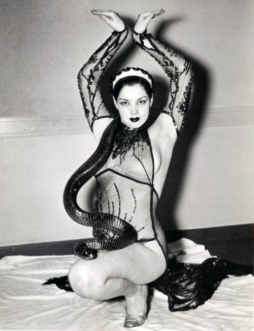 burlesque stripper - 1950s