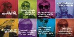 marrypotter:  Andy Warhol