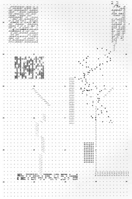 Archizoom No-Stop City (1969)  The plans for Archizoom 's 1969 No-Stop City were typed out on a typewriter. The plan emerged from limitations of typesetting: leading, tabs, indentation, and spacing. Appropriately enough, the project conceived as architectureless architecture is represented with a planless plan. Operating more like graph paper, the plan was seductively incomplete and awaiting occupation.