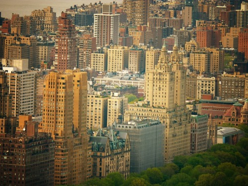 Central Park West. Upper West Side, New York City.  The view is from the top of Rockefeller Center.    —  You can now also view a gallery page for my New York City posters: New York City Posters by NY Through The Lens. Check it out!