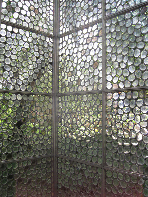 oceanicwolf:  Stained Glass structure by gopat1 on Flickr.   This is a structure at the Erasmus House (Brussels). I have yet to find the artist's name.