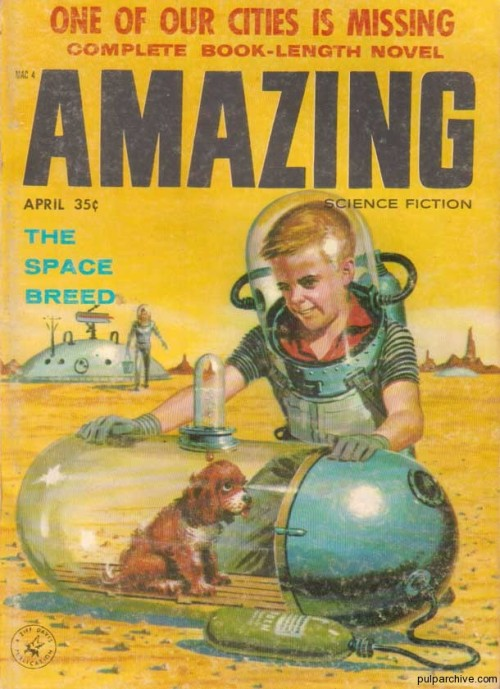 phuturistik:    Amazing Science FictionApril 1958Vol 32, No. 4Cover: Edward Valigursky