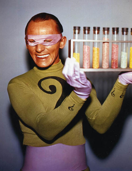"asthetisch:  retrogasm:  Frank ""The Riddler"" Gorshin just might be making Pixie Sticks or Pop Rocks… I really can't say… You make Retrogasm your bitch… from generous donor: http://www.jamisings.com/  I would take any drug this man gave me. No questions asked. Look how happy he is!"