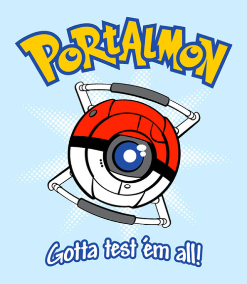Now that you have collected them all, you have to test them all thanks to Matthew Parsons. Vote this design up at Qwertee to see it print. It is also on sale at RedBubble, if you can't wait. Portalmon by Matthew Parsons (RedBubble) (Flickr) (Twitter) Via: Kotaku