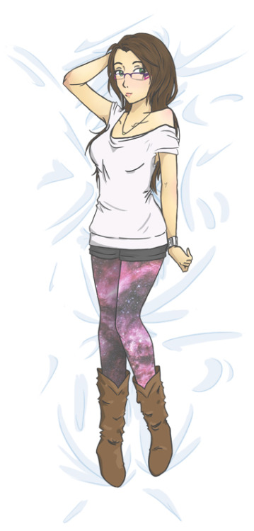 Oh yeah, I totally made a dakimakura style self-portrait. Because it is absolutely necessary for my to over-sexualise myself in every possible way.