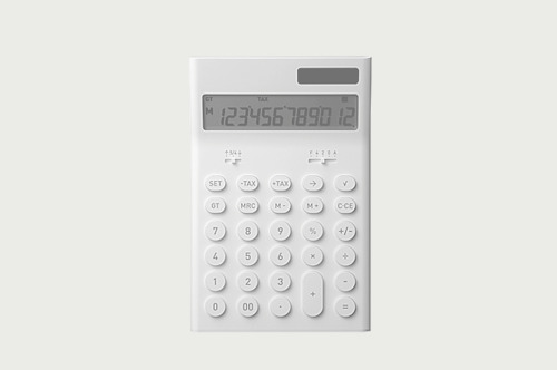 calculator, by naoto fukasawa for plus minus zero