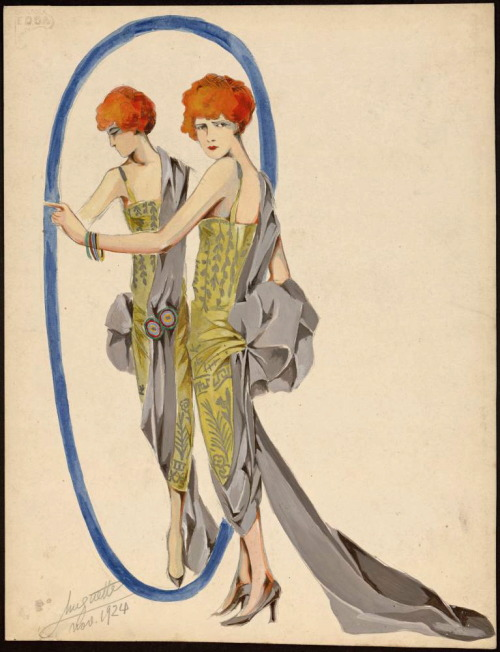 Design (looks like Poiret to me), 1924, Les Arts Decoratifs