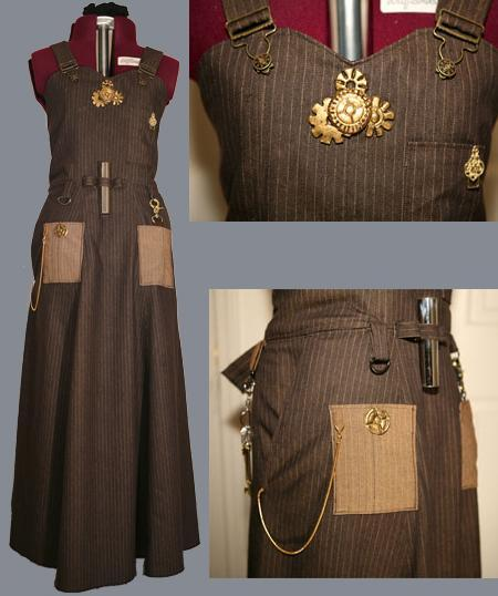 "I could cry. I found the tutorial to make this steampunk apron I've been coveting. Agatha ""Heterodyne"" Clay might wear these, no?"