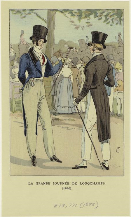 ohlookhistory:  Some dapper looking French gents.  1820.  Hallo, you handsome fellas!