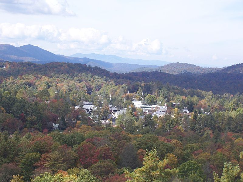 Highlands, North Carolina as seen from Sunset Rock.