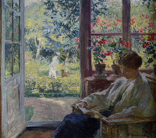 Woman Reading by a Window  Gari Melchers