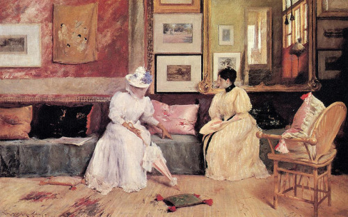 A Friendly Call [1895], William Merritt Chase