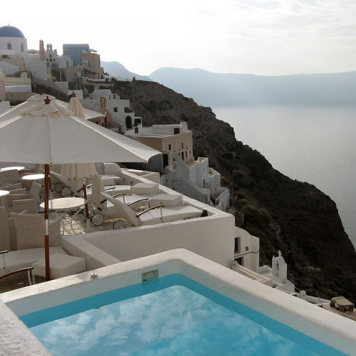 Santorini pool, Greece