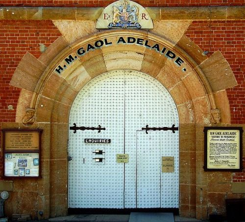 "Old Adelaide Gaol, Thebarton, South AustraliaThe gaol was the first permanent one in South Australia and operated from 1841 until 1988. The prison is now a museum, tourist attraction and function centre. From 1861 to 1883, 13 prisoners were executed on portable gallows erected between the Gaol's inner and outer walls. Executions were moved to the ""New Building"" in 1894 where a further 21 prisoners were executed. The ""Hanging Tower"" was converted to that use in 1950 and used for the last four executions before Capital Punishment was abolished in 1976. From 1840 to 1964, 45 of the 66 people executed in South Australia were executed by hanging at the Gaol. William Ridgway was the youngest at 19 in 1874, Elizabeth Woolcock the only woman in 1873 and the last was Glen Sabre Valance in 1964."