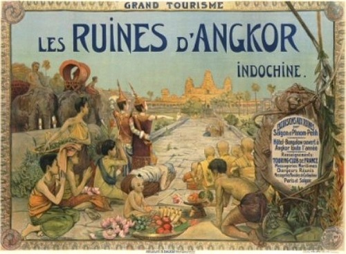 French postcard, from 1911, showing Angkor Wat.