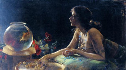 hoodoothatvoodoo:  Charles Courtney Curran, The Goldfish 1905