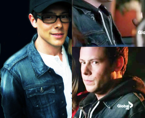 Cory and Finn and their jean jackets. ;)
