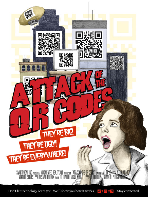 Poster #2 in my WIRED series. This one's for all the QR-lovers out there. ;)